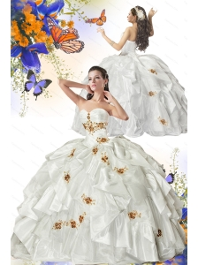 The Most Popular Detachable White Quinceanera Dress with Appliques