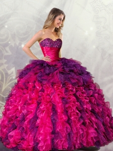 Unique Ball Gowns Sweetheart Detachable Quincenera Dresses