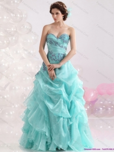 2015 New Arrival Sweetheart Floor Length Quinceanera Dresses with Appliques