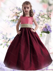Perfect Multi Color Ruffled 2015 Little Girl Pageant Dress with Sash
