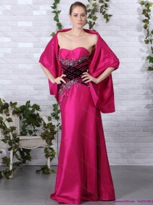 2015 Popular Sweetheart Floor Length Christmas Party Dress with Beading