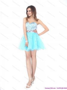 2015 The Super Hot Sweetheart Light Blue Christmas Party Dress with Sequins