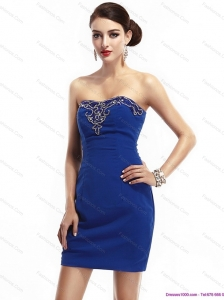 The Most Popular Strapless Short 2015 Christmas Party Dresses with Appliques