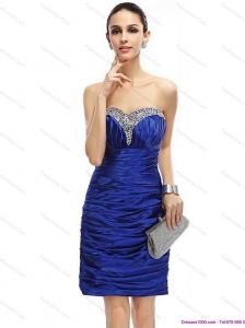 Popular Sweetheart Plus Size Prom Dresses with Ruching and Beading