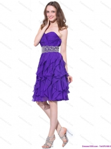 Popular Sweetheart Ruffled Plus Size Prom Dresses with Appliques