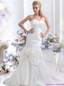 New 2015 Wonderful Sweetheart Wedding Dress with Ruching