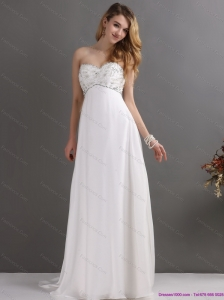 New and Sturning Sweetheart Wedding Dress with Beading for 2015