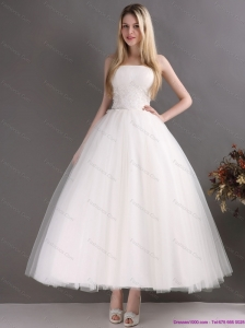 2015 Perfect Sweetheart Ankle-length Lace Beach Wedding Dress