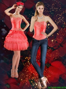 Detachable The Super Hot Strapless 2015 Prom Dress with Beading and Pick Ups