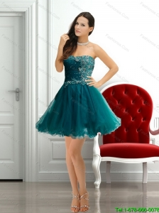 2015 Beautiful  Fashionable Strapless Beading Prom Dress in Dark Green