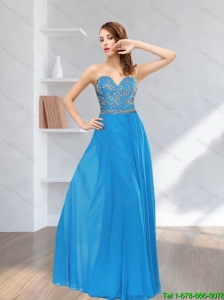 2015 Plus Size Sweetheart Floor Length Prom Dress with Appliques