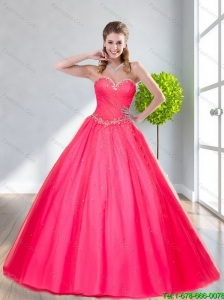 Popular Sweetheart Beading Ball Gown Prom Dresses for 2015 Spring