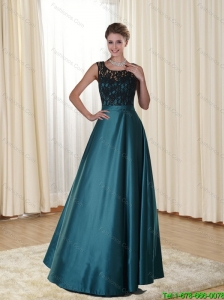 Wonderful Scoop Floor Length 2015 Prom Dress with Lace