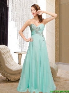 2015 Plus Size Sweetheart Appliques Prom Dress in Apple Green