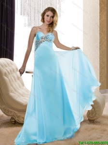 2015 Plus Size Sweetheart Beading Prom Dresses with Brush Train