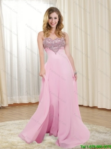 2015 The Super Hot Sweetheart Floor Length Cheap Bridesmaid Dress with Appliques