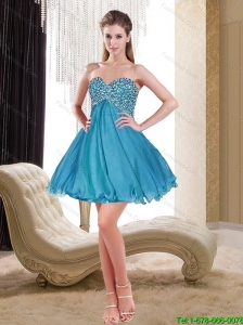 Remarkable Sweetheart Chiffon Beading Cheap Bridesmaid Dress in Teal