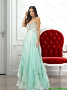 Decent Sweetheart Beading Bridesmaid Dresses in Apple Green