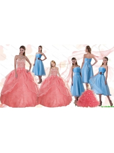 Discount Sweetheart Beading and Ruffles Quinceanera Dress and Strapless Hand Made Flower Dama Dresses and Halter Top Beading Little Girl Dress