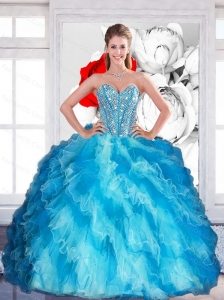 2015 Elegant Sweetheart Multi Color Quinceanera Dresses with Beading and Ruffled Layers