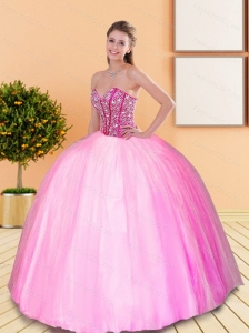 Exclusive Beading Sweetheart Quinceanera Gown for 2015 Spring