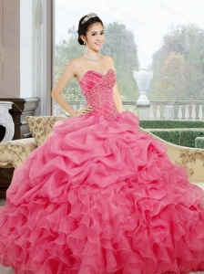 Luxurious Ruffles and Pick Ups Sweetheart Sweet 16 Dresses for 2015
