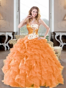 Unique Beading and Ruffles Sweetheart Quinceanera Dresses for 2015