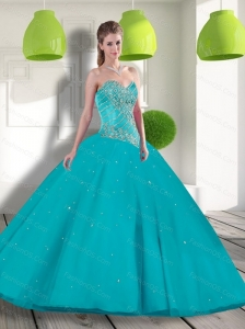 Unique Sweetheart 2015 Quinceanera Dress with Beading and Appliques