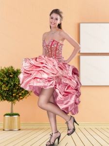 2015 New Style Sweetheart Prom Dress with Beading and Pick Ups