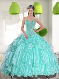 Cute Ball Gown Sweetheart Appliques and Beading Quinceanera Dresses