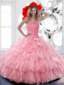 Perfect  Sweetheart 2015 Quinceanera Dresses with Ruffled Layers