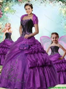 Brand New Eggplant Purple Princesita Dress with Pick-ups For 2015