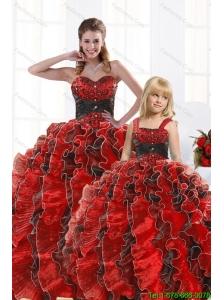 Unique Beaded Sweetheart Organza Princesita Dress in Multi-color