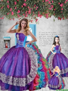 2015 Luxurious Sweetheart Multi-color Princesita Dresses with Appliques and Ruffles