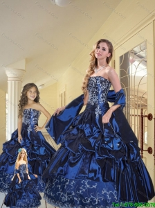 New Arrival  Appliques and Pick-ups Princesita Dresses in Navy Blue