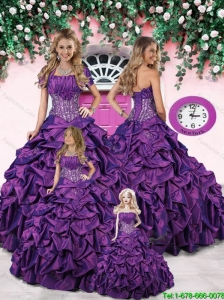 Purple Princesita Dresses with Appliques and Pick-ups for 2015