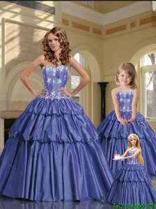 2015 Luxurious Sweetheart Lavender Princesita Dresses with Appliques