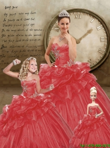 Brand New Sweetheart Appliques Red Dresses for Princesita