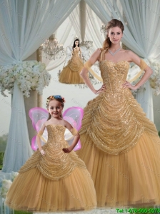 Discount Ball Gown Sweetheart Champagne Princesita Dresses