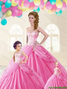 Discount Sweetheart Beading Princesita Dresses in Baby Pink
