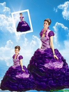 Lovely Purple Princesita Dresses with Beading for 2015