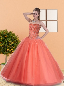 2015 Beautiful Ball Gown Quinceanera Dresses with Beading