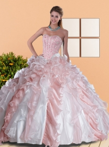 2015 Exclusive Sweetheart Quinceanera Dresses with Beading and Ruffles