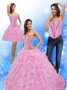 Luxurious Beading and Ruffles Sweetheart 2015 Quinceanera Dresses