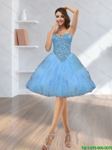 2015 Perfect Beading and Ruffles Prom Dress with Sweetheart
