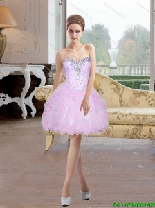 Cheap Beading and Ruffles A Line Sweetheart Prom Dress for 2015