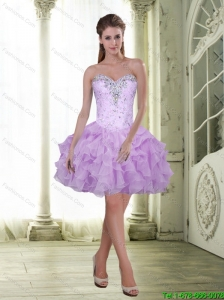 Exclusive Beading and Ruffles Sweetheart Prom Dress for 2015