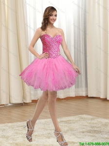 Exquisite Sweetheart Beading and Ruffles 2015 Prom Dress