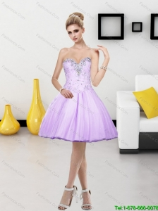 Wonderful Tulle Beading Short Sweetheart 2015 Prom Dress