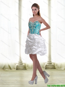 Luxurious Embroidery Prom Dresses in Multi Color for 2015